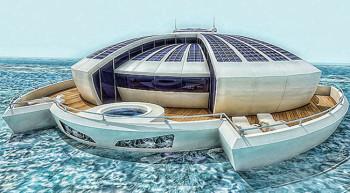Solar floating resort